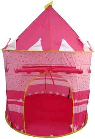 Puregadgets© Fairy Princess Tale Castle Pop Up Children's Tent with Windows and Roll Up Door Pink Girls Indoor or Outdoor and Case