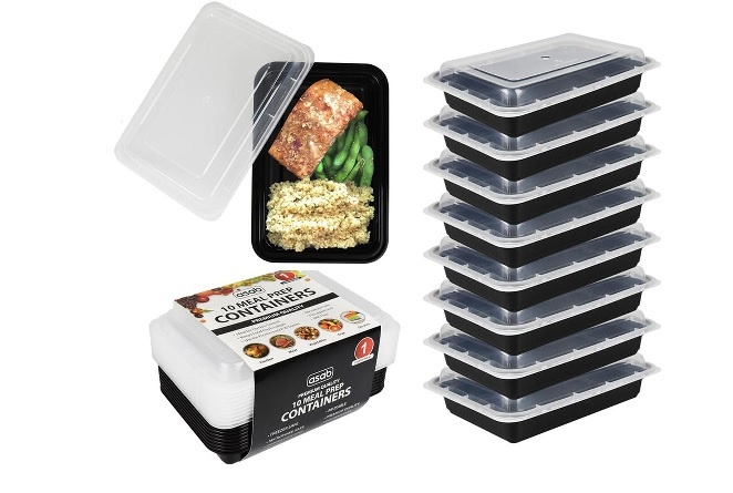 1 Compartment Ten Meal Prep Containers