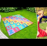 Add a review for: 36pc Foam Alphabet & Number Puzzle Play Mat