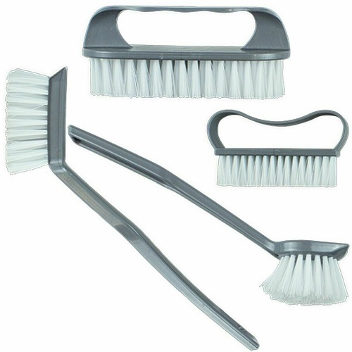 4Pc Kitchen Brushes Washing Up Cleaning Scrubbing Hanging Hook Assorted Dish Pan