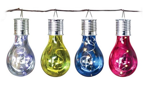 4 pack Solar coloured bulbs