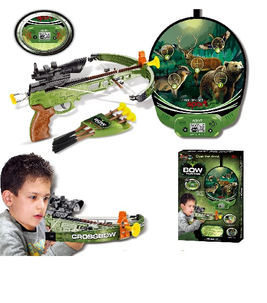 Hunting Sport Crossbow / Archery Set Shooting Game with Target Arrows Kids Boys