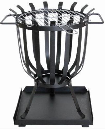 PATIO BRAZIER WITH BARBECUE GRILL