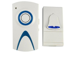 1Bell 1 Chime Plug in Wireless Door Bell Cordless DoorBell Chime Ringer Wire free100m Range