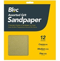 12 Sheets Assorted Grit Sandpaper Mixed Grit Fine Medium Coarse Sand Paper Paint