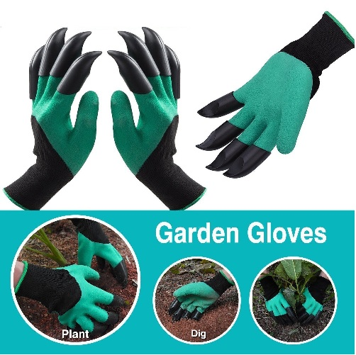 Garden Genie Gloves with Claws on EACH Hand Waterproof Digging Gloves