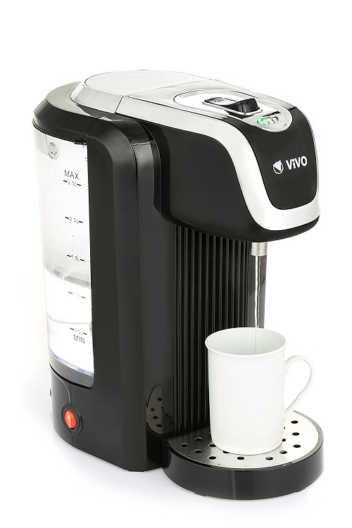 Vivo © Instant Hot Water Dispenser Kettle 2.5 Litre Black / Silver Boils in Seconds Professional Cafe