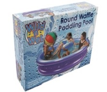 children play waffle  pool