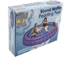 children play round waffle  pool