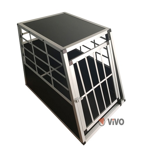 High quality aluminium single door pet transport crate/cage