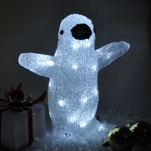 Penguin Crystal Effect Standing 2 Character 1Christmas Light