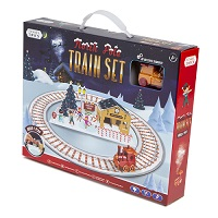 Add a review for: Christmas Toy Train Express Holiday Festive Set Track North Pole Decoration Elf
