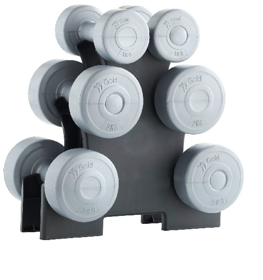 12KG DUMBBELL SET with stand