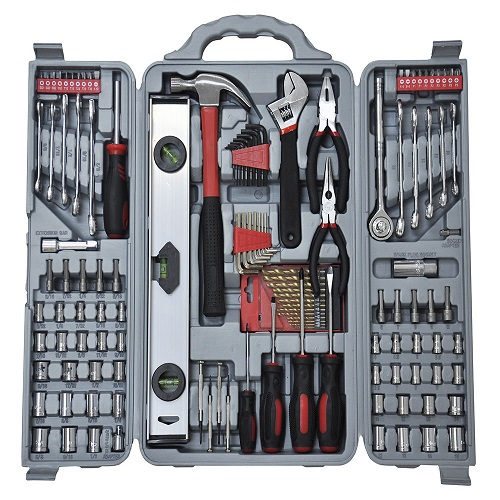 127pc Essential Tool Kit Set - Socket Screwdriver Pliers Drill Bit Hex Allen Key