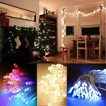 100 Christmas LED Fairy Lights Battery Operated - Xmas Tree Icicle String Table Wall
