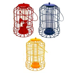 Hanging feeder Squirrel Proof Guard Bird Fat Ball Seed Nut feeding GardenTray