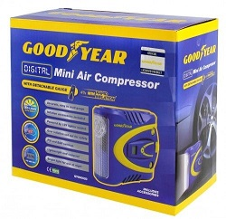 GOODYEAR Digital Mini Air Compressor Detachable Guage 12v Lightweight Light PSI
