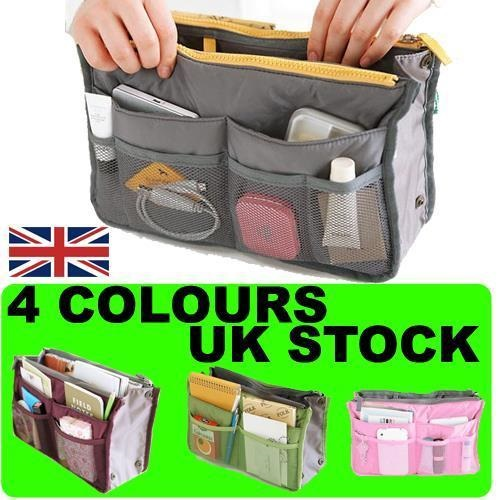 WOMENS HANDBAG PURSE TRAVEL ORGANISER LARGE BAG LINER LADIES XMAS PRESENT GIFT