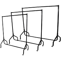 4 feet Heavy Duty Garment Clothes Dress Hanging Rail Rack Display Shop Market Wardrobe