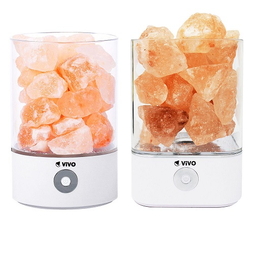 Natural Himalayan Salt Lamp - USB Powered - 3M USB Cable Included - LED Bulbs