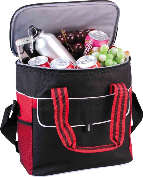Cooler Bag for Picnic Camping Drinks Ice Pack Chill + Handle and Shoulder Strap