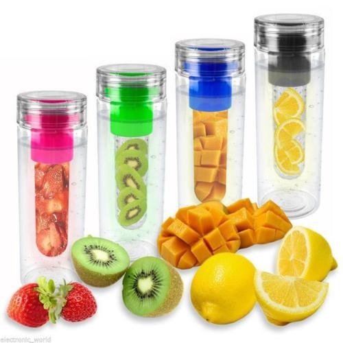 Fruit Infusing Water Bottle Infuse Infuser Hydration Aqua Sports Gym Healthy nEW