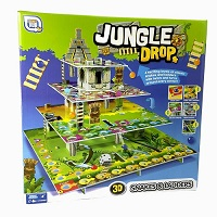 Jungle Drop Family Board Game 3D Snakes & Ladders 2-4 Players Twist Turn Classic