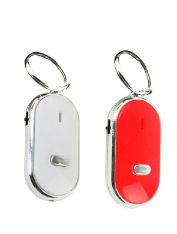 2x LED-Key-Finder-Locator-Find-Lost-Keys-Chain-Key-chain-Whistle-Sound-Control