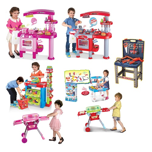 Children Kids Kitchen Cooking Doctor Supermarket BBQ Play Set DIY Tool Set