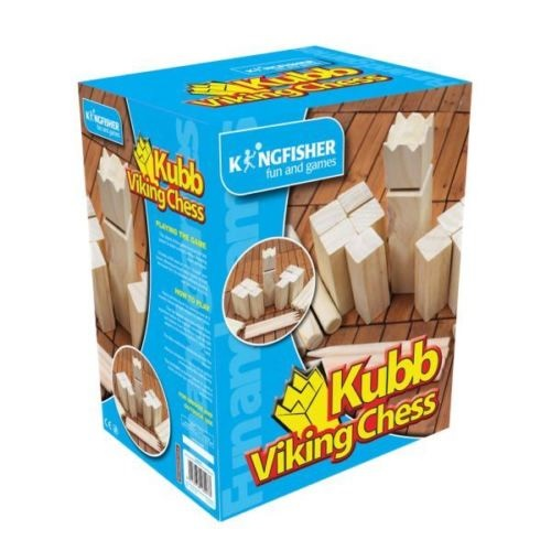 Wooden Viking Chess Kubb Set Garden Summer Fun Family Games