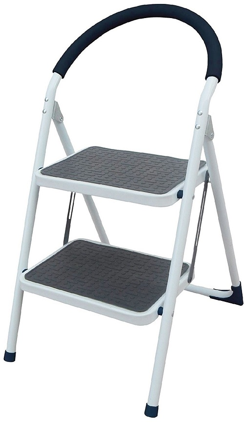 Click to open expanded view ViVo© 2 Tread Kitchen Home Folding Easy Storage Step Ladder Stepladder Stool