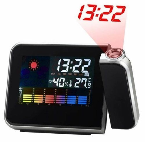 Digital LCD/LED Projector Alarm Clock Projecting Weather Station Temperature
