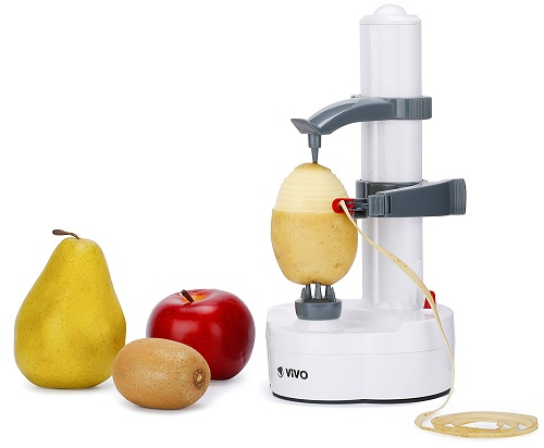 Vivo © Automatic Electric Fruit Veg Vegetable Apple Potato Peeler Slicer Cutter Kitchen Tools Utensil Hygenic Waste Reduction