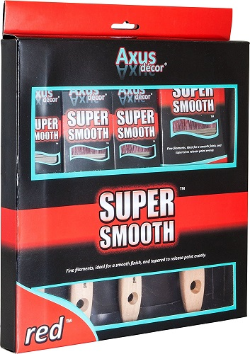 Axus Décor Super Smooth Brush Set - Red (4 Pieces)