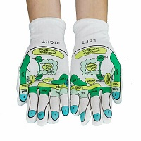 1 Pair of Reflexology Gloves Acupressure Acupuncture Chinese Natural Healing
