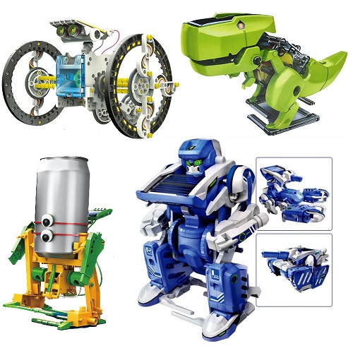 Educational Assembly Solar Power Robot Construction Kit Mechanical Powered Xmas