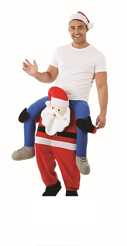 Adult Fancy Dress Santa Piggy Back Costume