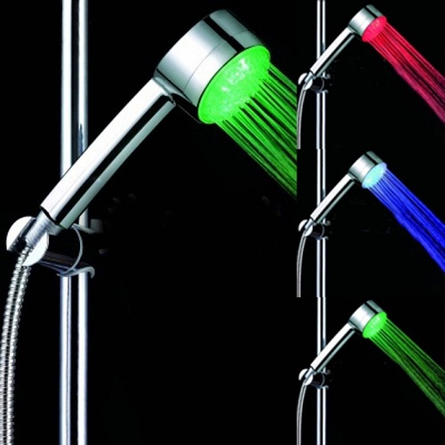 7 Colour LED Automatic Changing Bright Light Water Bathroom Home Shower Head
