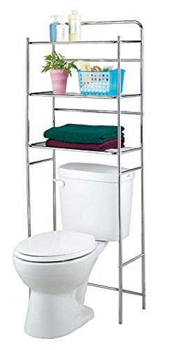 Vivo © 3 Tier Over the Toilet Space Saver Cabinet Wire Shelves Rack Chrome Tidy