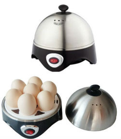 Stainless Steel Electric Egg Boiler Steamer Poacher 7 Perfectly Boiled Eggs