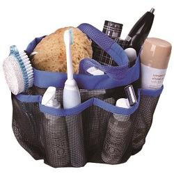Hanging Toiletry & Bath Organiser 8 Compartment Caddy Tote Dorm Gym Camp Travel