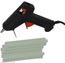 PUREGADGETS TRIGGER ELECTRIC HOT MELT GLUE GUN PLUS 50 ADHESIVE STICKS FOR HOBBY CRAFT MINI