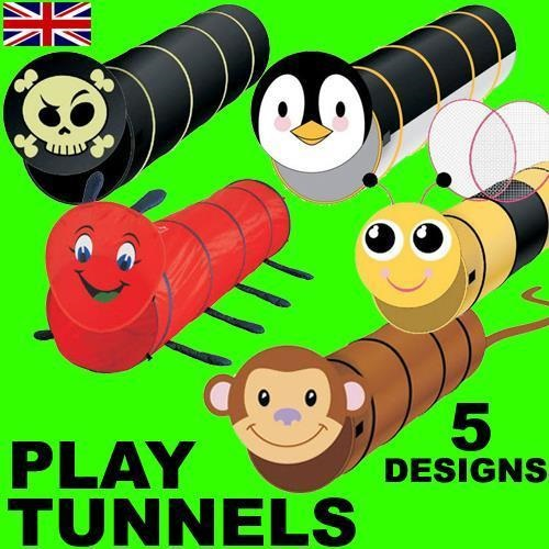 POP UP PLAY LONG TUNNEL FOR CHILDREN / GIRLS / BOYS INDOOR OUTDOOR FUN XMAS TOY
