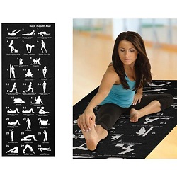 BLACK- 28 Position Yoga Exercise Fitness Mat